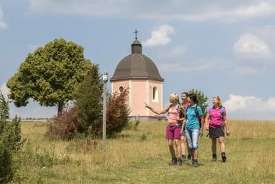 Wandergruppe auf dem Alten Berg
