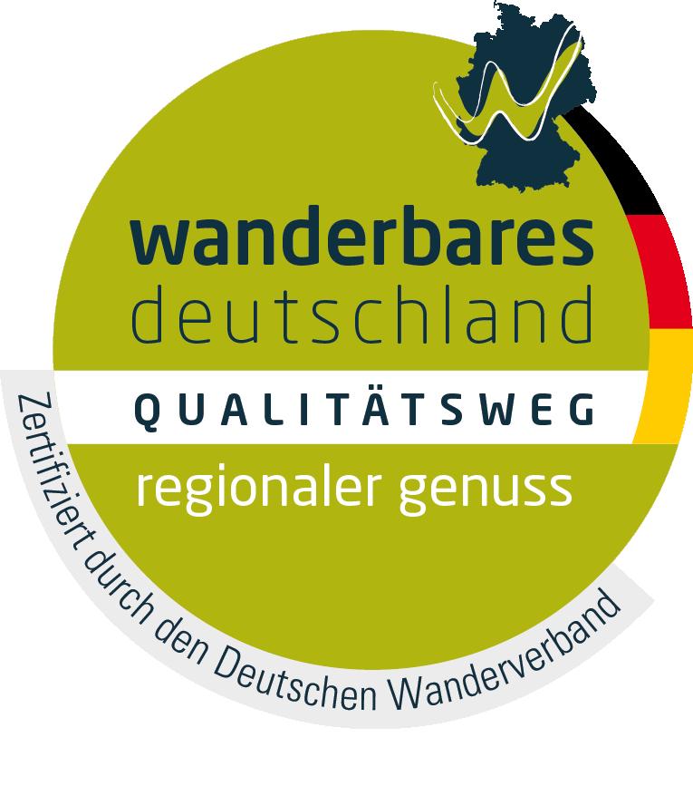 Logo Qualitätsweg Wanderbares Deutschland - regionaler Genuss