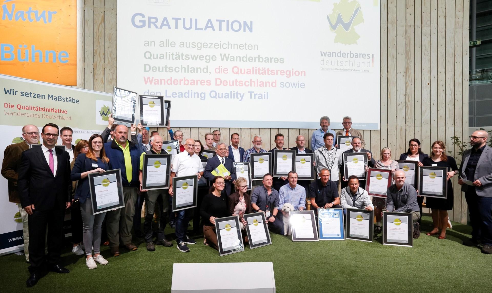 Verleihung Qualitätswege TourNatur 2019