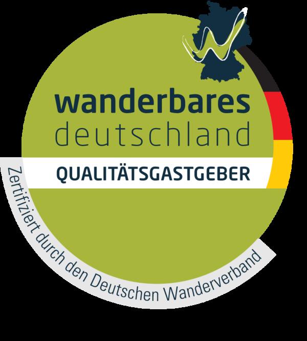 Logo Qualitätsgastgeber Wanderbares Deutschland