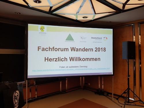 Mit Spannung erwartet - das ITB Fachforum Wandern 2018