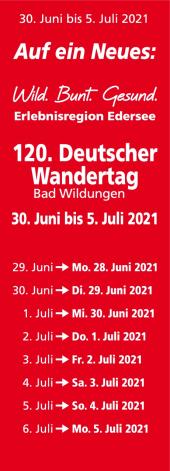 Die geplanten Termine zum 120. Deutschen Wandertag werden nachgeholt.