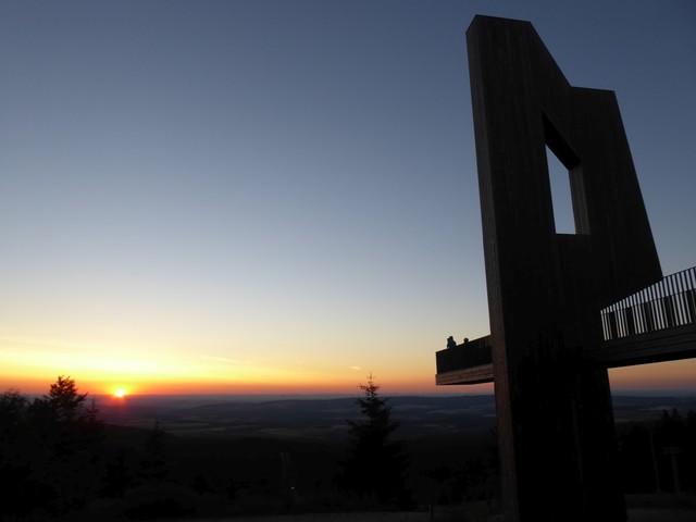 Sonnenuntergang auf dem Erbeskopf (Hunsrück)