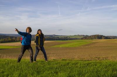 Wanderer im Frankenwald