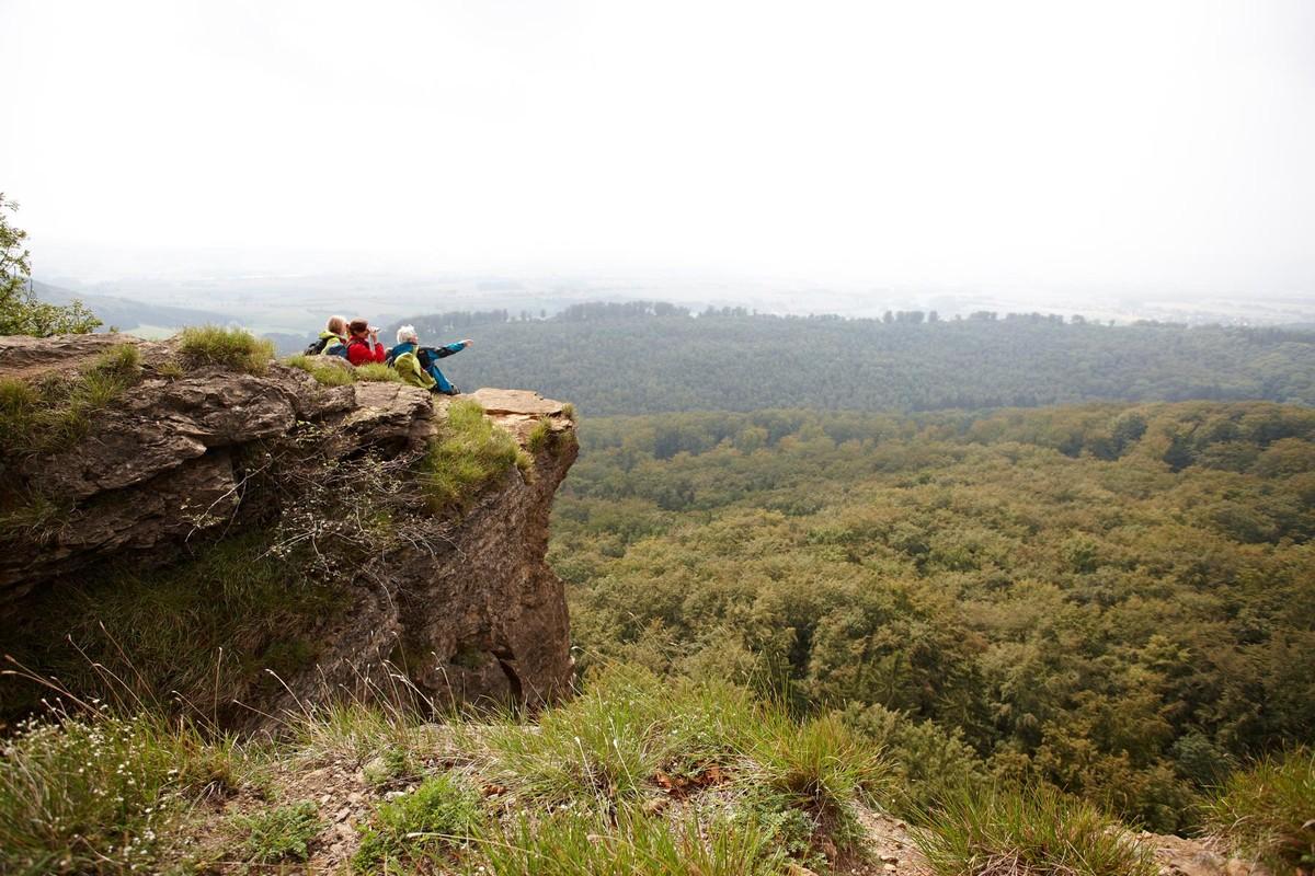 Atemberaubende Aussicht von den Hohenstein Klippen.
