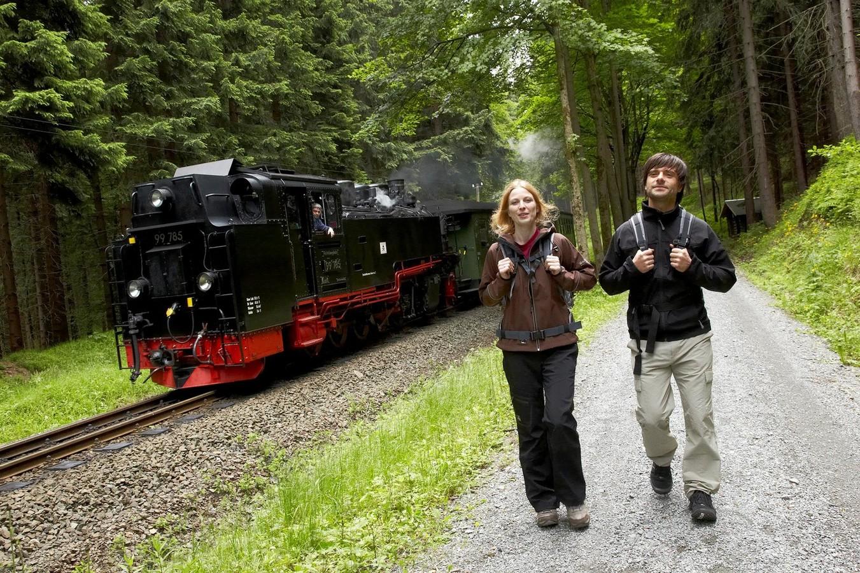 Schmalspurbahn am Kammweg