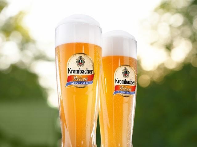 Krombacher Weizen Alkoholfrei im Glas