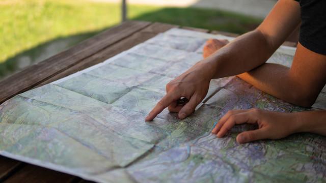 Kompass-Karte Hüttentisch