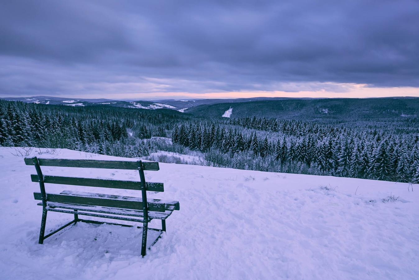 Winterwandern im Vogtland zum Ausblick Schneckenstein