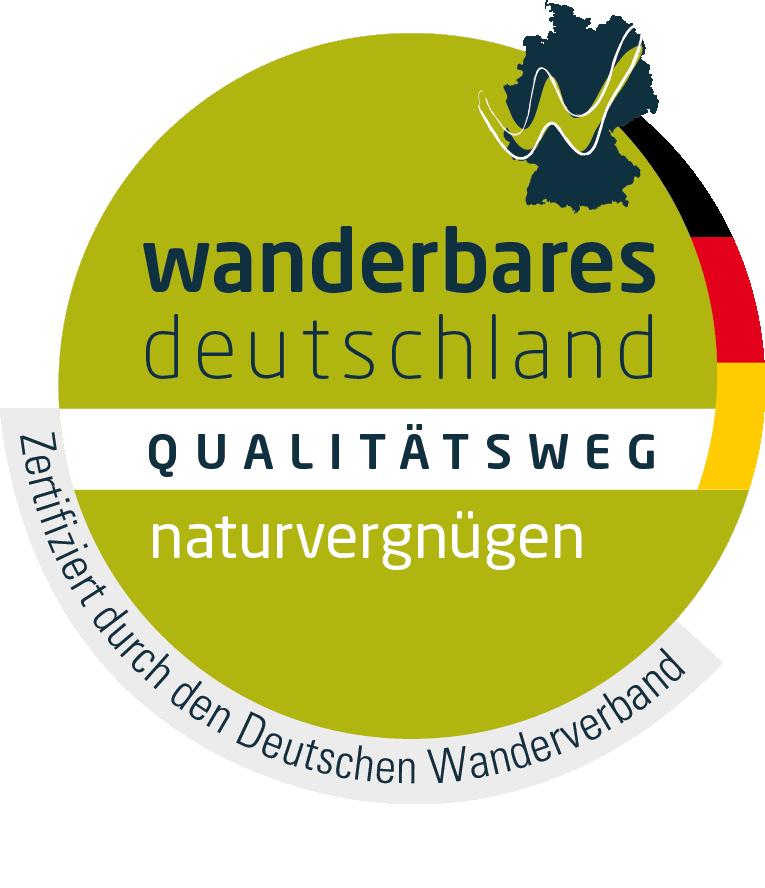 Logo Qualitätsweg Wanderbares Deutschland - naturvergnügen