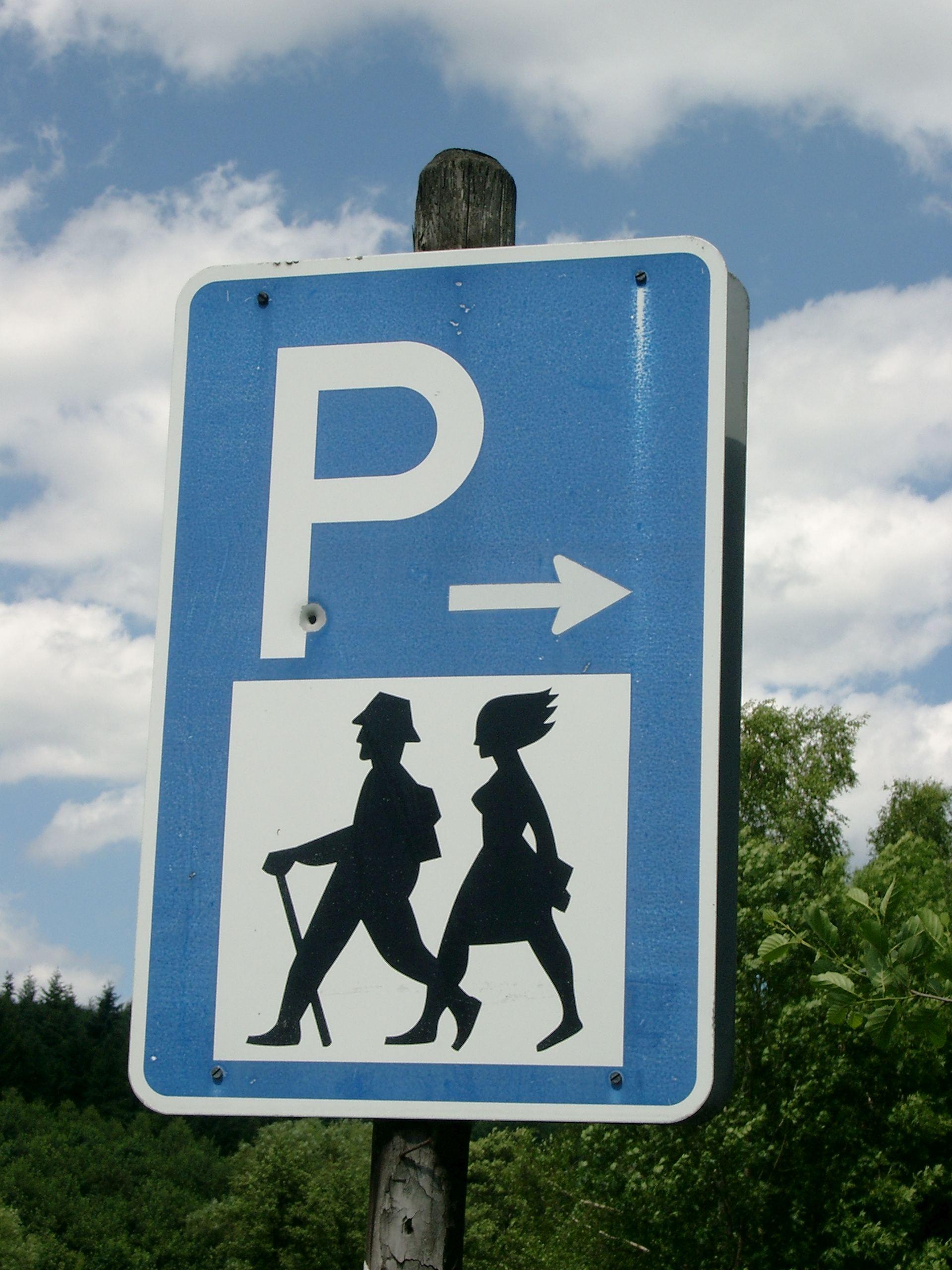 Schild Wanderparkplatz