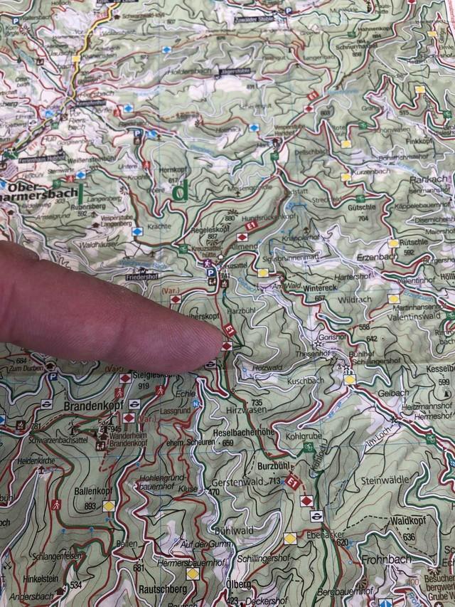 Orientierung in der Karte