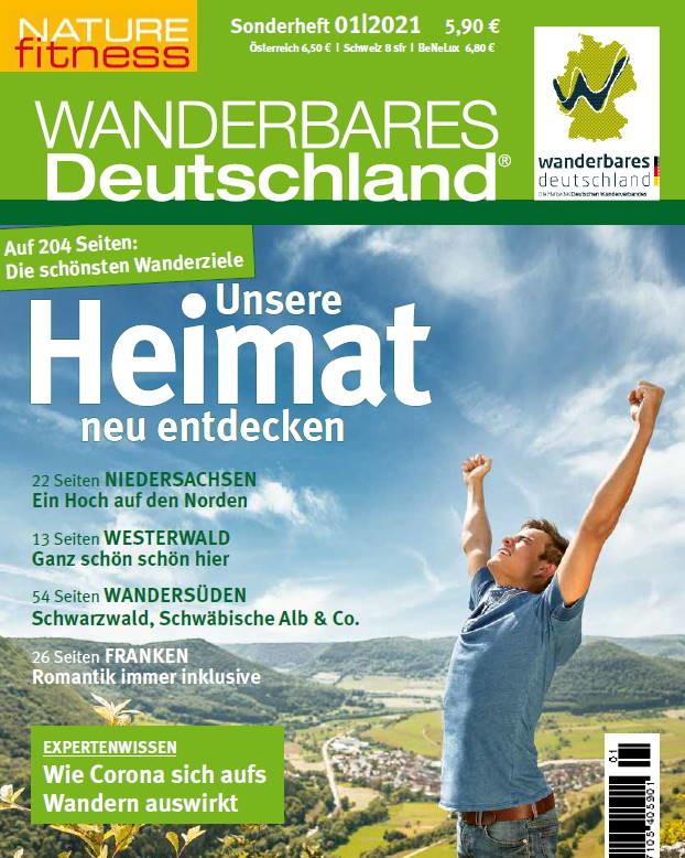 Cover des Magazins Wanderbares Deutschland 01/2021