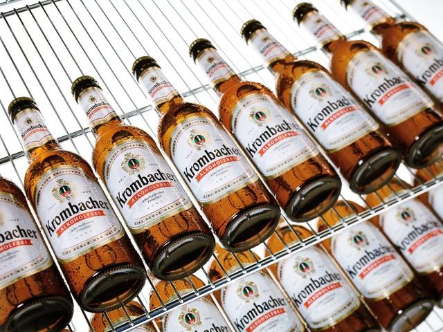 Krombacher Alkoholfrei im Kühlschrank