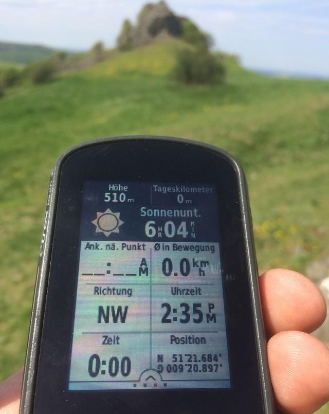 GPS-Gerät im Einsatz