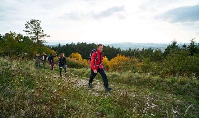 Wandergruppe auf dem FrankenwaldSteig